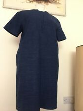 Toast moderniste Indigo Lin/Coton japenese Robe Tunique Taille 10