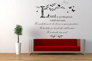 Psalm 23 Christian Bible Quote NIV Vinyl Wall Art Sticker Decal, Church, School