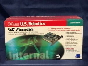 * * NEW IN RETAIL BOX * * US Robotics 5683 56Kbps V.90 Internal ISA FAX Modem