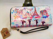 New Fashion French Wallet Paris France Wristlet LG IPHONE Fits blue pink purple