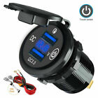 12-24V Car Charger Socket QC3.0 Dual USB Port Volt Display Phone Fast Charging