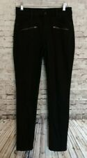 NYDJ 'Ami' Stretch Super Skinny Moto Jeans Lift Tuck Tech PBQJ57GW Black 6P