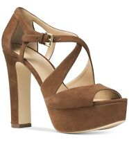 NWT MICHAEL Michael Kors Harlen Strappy Sandals Dark Caramel Size 8.5M~MSRP$150