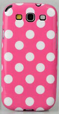 Galaxy S3 Flexible TPU Case / Back Cover - Polka Dots - Pink
