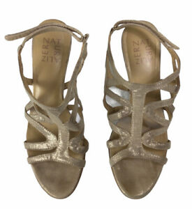 Naturalizer Shoes Danya Dress Strappy Sandal Taupe/Gold Size 7.5 W Heels Shoes