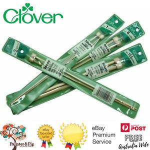 Clover Takumi Single Point Knitting Needles, Premium Bamboo Many Sizes Available