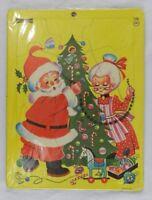 Vintage Saafield Christmas Puzzle Frame Tray Santa Mrs Claus 7098