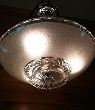 Antique/VTG 1920s/30s Art Deco Nouveau Ceiling Chandelier Light/Lamp Fixture,WOW