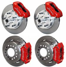 "WILWOOD DISC BRAKE KIT,1964-1974 GM,11"" ROTORS,4 PISTON RED CALIPERS,Pontiac`"