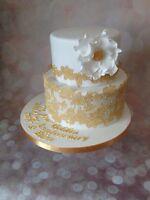 edible 100CM LONG large sugar laces Anniversary cake BabyShower Birthday wedding