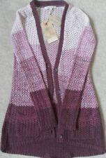 New Fat Face  Cardigan /Size UK 8 /Twisted Crochet Stripe/ Light/pink washed