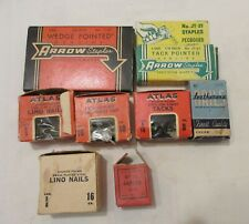 2 Boxes Arrow, Staples, Latherene Upholstery nails, Atlas Carpet Nail, Lino Nail