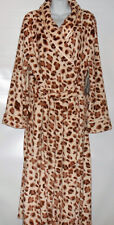 Covington Woman Plus Size Long Fleece Animal Print Wrap Robe & Slippers 2X NWT