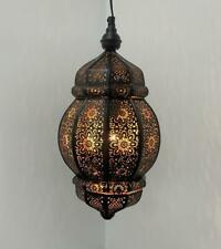Black/Gold Moroccan Turkish Lamp Hanging Ceiling Light Fixture Oriental Lamps