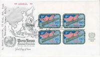 United Nations NY119 - Enveloppe 1er jour 1960 Economic Commission Airmail 8c
