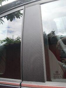 Fiat 500 3 Door Carbon Fibre Effect Pillar Trim Sticker Kit