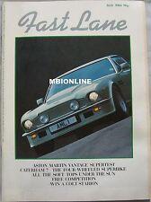 FAST LANE 05/1984 featuring Aston Martin Vantage, Ferrari, Audi Quattro, Lancia