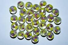 20 Murano Glasperlen gelb Perlen Beads Pearls Kugel Schmuck basteln DIY