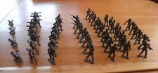 MPC lot of WWII soldiers gray bazooka 52 pieces plastic VINTAGE