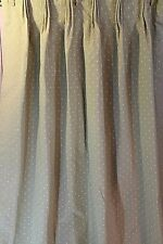 "Sage Green Curtains Lined Pinch Pleated Drapes 26"" x 84"" Polkadots Darkening / 2"