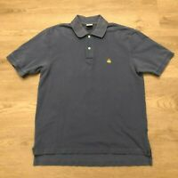 Brooks Brothers 346 Mens Blue Polo Shirt 100 Cotton Original Fit Size Medium