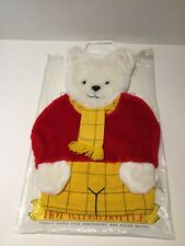Vintage 1980's Collectible Rupert The Bear Plush Fluffy Hot Water Bottle Cover