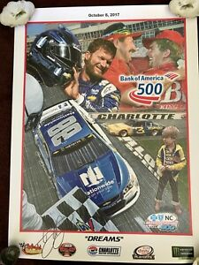 DALE EARNHARDT JR BANK OF AMERICA 500 SAM BASS signed autograph 18x24 Poster