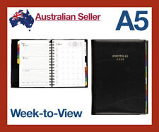 2020 A5 Weekly Diary Compendium Organiser Planner Journal Portfolio PU Leather