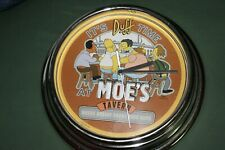 The Simpsons it's Duff Time at Moe's Tavern Clock 2001 Novelty..RARE piece!