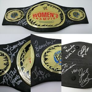 WWE: Women's Champion Replica Play Belt SIGNED Mickie James LITA Melina JACKIE