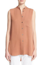 Theory  'Hinzin' Sleeveless Silk Georgette Shirt S NWT $245