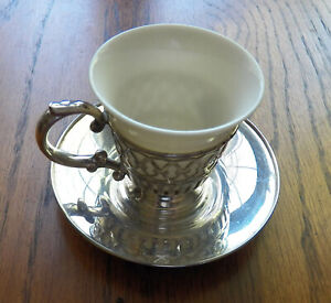 Watson Sterling Demitasse Lenox Liner Sterling Cup & Underplate 3413 Buy 1 up 10