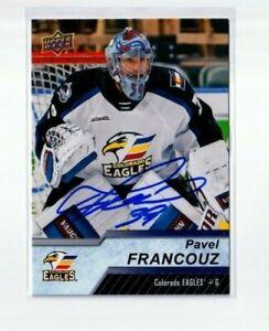 PAVEL FRANCOUZ autographed SIGNED '18/19 Upper Deck AHL card COLORADO AVALANCHE