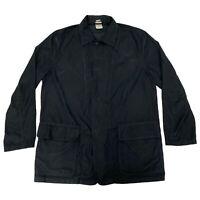 Mens Sz 57 Enrico Mandelli Black Button Jacket Italian Coat Fashion Style 31537