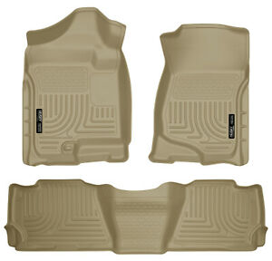 Husky Liners Front & 2nd Seat Floor Liners For 2007-2014 Chevrolet Suburban 1500