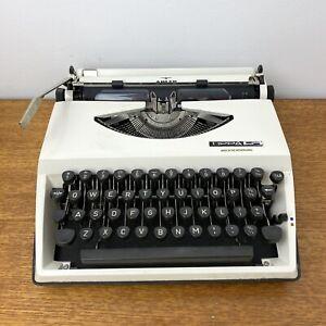Vintage Retro White Adler Tippa S Portable Typewriter 1970s