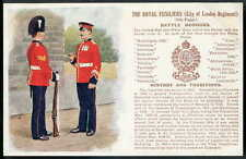 London Corps & Regiments Collectable Postcards