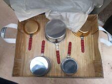 Jouet ancien lot de casseroles neuves en boite dinette pour Poupées cuisine