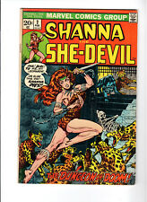 Shanna, the She-Devil #2 Steranko-c Heroin drug story (Feb 1973, Marvel)