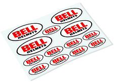 BELL HELMETS STICKER SHEET Classic Retro Car Motorcycle Decals Stickers