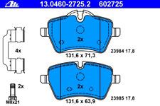 Bremsbelagsatz Scheibenbremse - ATE 13.0460-2725.2