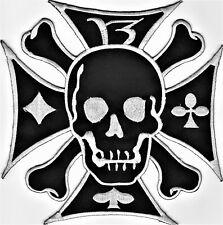 Totenkopf EK Aufnäher Patch Modell Eisernes Kreuz Skull 19 cm x 19 cm