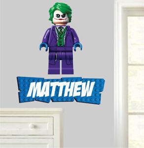 Personalised Lego Joker Wall Art Stickers Bedroom Decals Batman Avengers