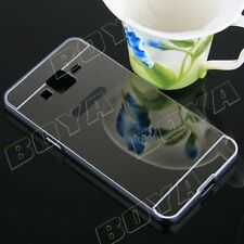 Luxury Aluminum Soft Mirror Back Cover for Samsung iPhone Phone Metal Frame Case
