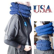 Air Inflatable Pillow Cervical Neck Head Pain Traction Support Brace Device USPS