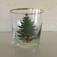 Set of 7 Cuthbertson Original Christmas Tree old fashioned tumblers glasses EUC