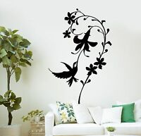 Wall Decal Bird Flower Beautiful Decor Home Room Art Vinyl Stickers (ig2823)