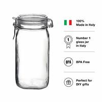 52oz Airtight Glass Preserving Jars with Clip Top Lids for Bathroom/Kitchen US