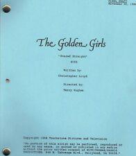 "THE GOLDEN GIRLS script ""Scared Straight"""