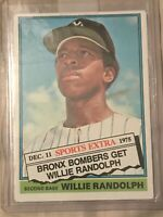 1976 (YANKEES) Topps Traded #592T Willie Randolph
